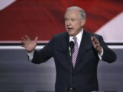 U.S. Senator Jeff Sessions speaks at the Republican National Convention in Cleveland