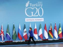 German Chancellor Merkel arrives for welcoming ceremony during G20 summit in Antalya
