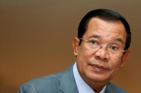 Cambodia's PM Hun Sen attends a plenary session at the National Assembly of Cambodia in central Phnom Penh