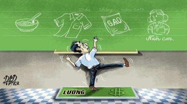 Được tăng lương chỉ là giấc mơ đối với giáo viên