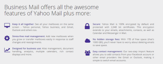 Yahoo business mail discount code