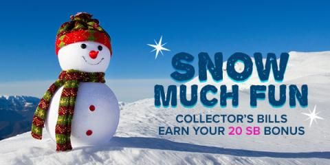 #ALT Snow Much Fun Collectors Bills