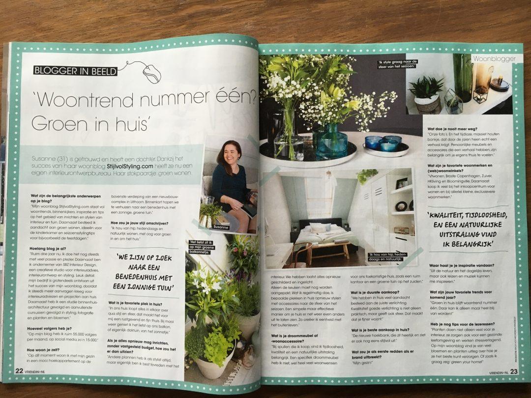 Interview met Susanne in de Vriendin Woonspecial - Woonblog StijlvolStyling.com
