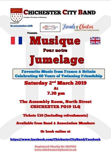 Musique pour Notre Jumelage avec Chichester City Band @ Assembly Room