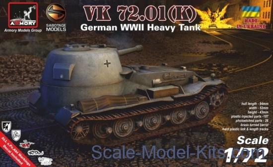 German WWII heavy tank VK 72.01 (K)