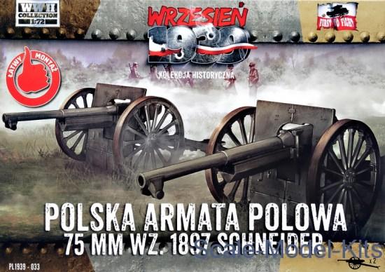 Polish Field Canone 75mm wz. 1897 Schneider, 2pcs (Snap fit)