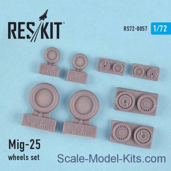 Wheels set for Mig-25