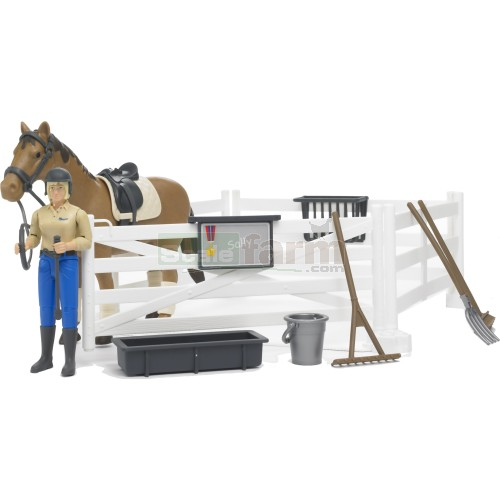 Bruder Toys Bruder Toys B World Horse Stable And Figure