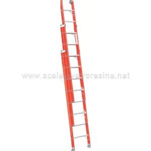 Scala in vetroresina a sfilo 3 rampe 12 gradini