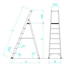 scala in vetroresina salita singola disegni