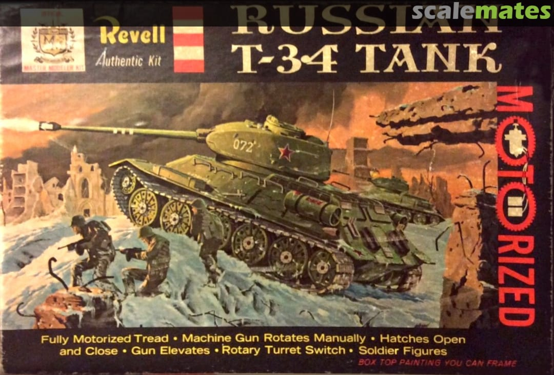 Russian T 34 Tank Revell H 546 249 1961