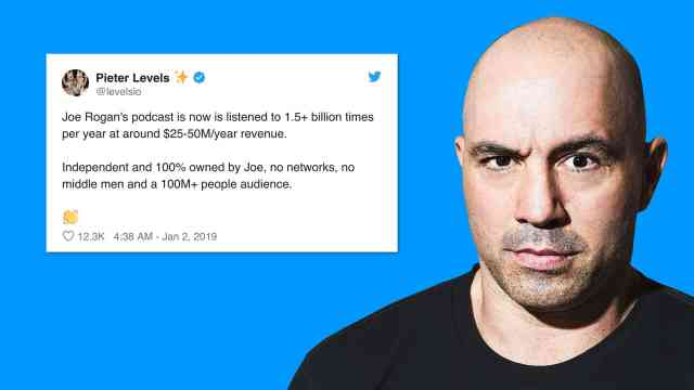 Joe Rogan is making millions from his podcasts, so why can't you make 10k a month?