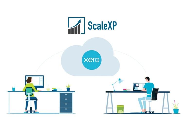 ScaleXP Xero integration logo graphic