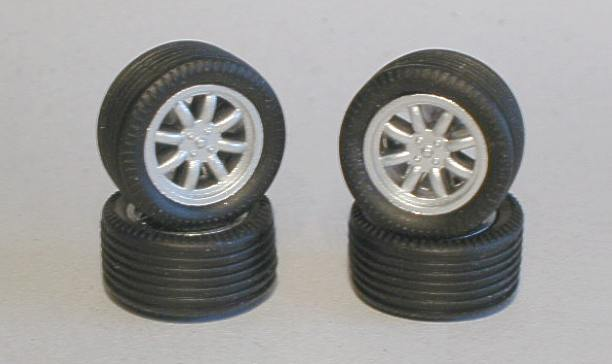Scalextric Minilite wheels and tyres