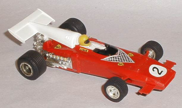 Rear wing for vintage Scalextric C025 Ferrari 312 B2