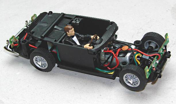 Digital chip fitted to C3664A James Bond Aston Martin DB5 Goldfinger RHS
