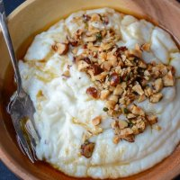 Mashed cauliflower with hazelnut brown butter