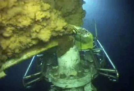 BP oil lead up close