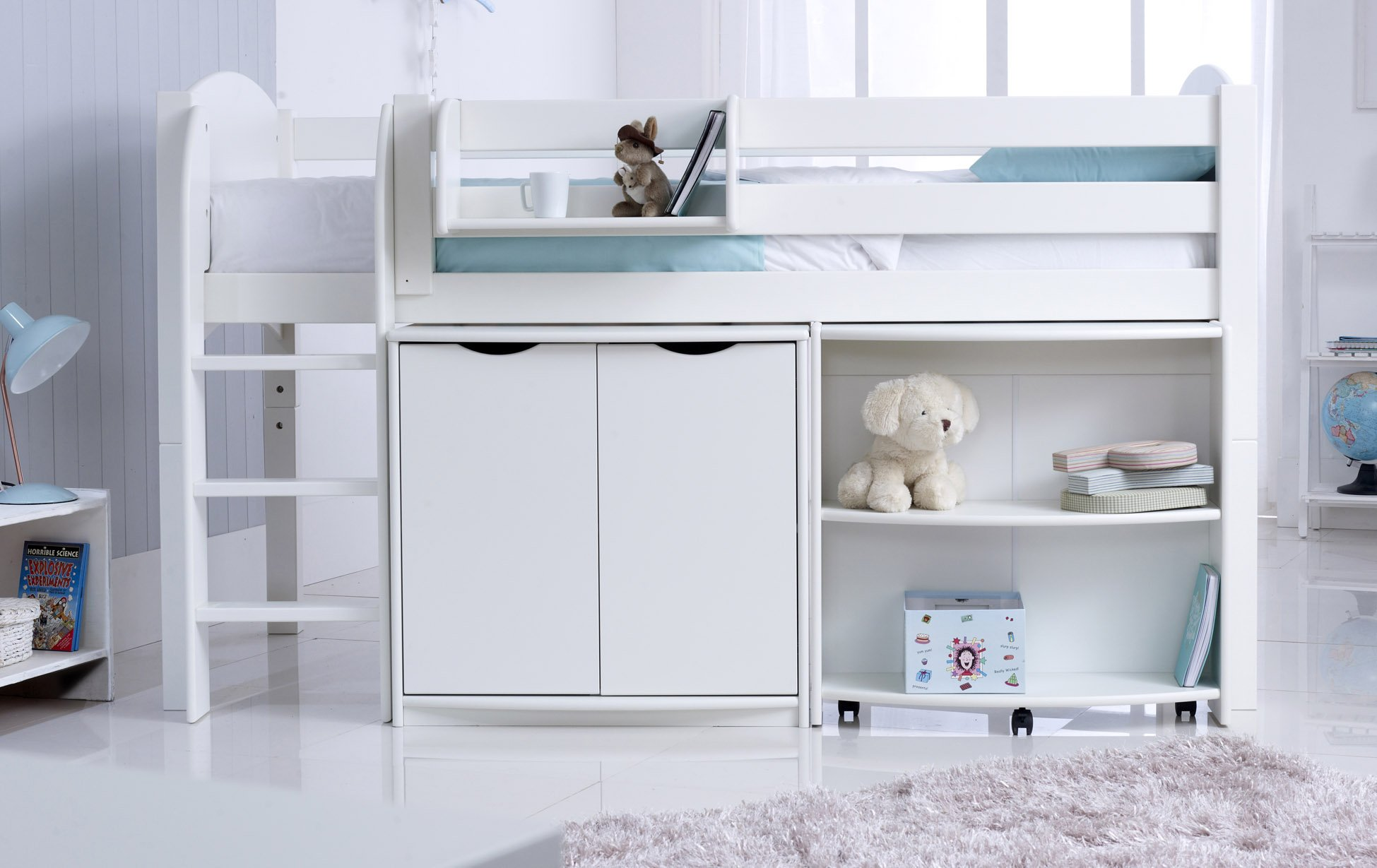 Childs Midsleeper Cabin Bed With Desk Amp Cupboard