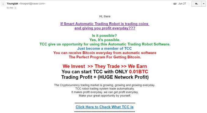Trade Coin Club Spam
