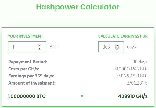 Sierra HashPower Calculator
