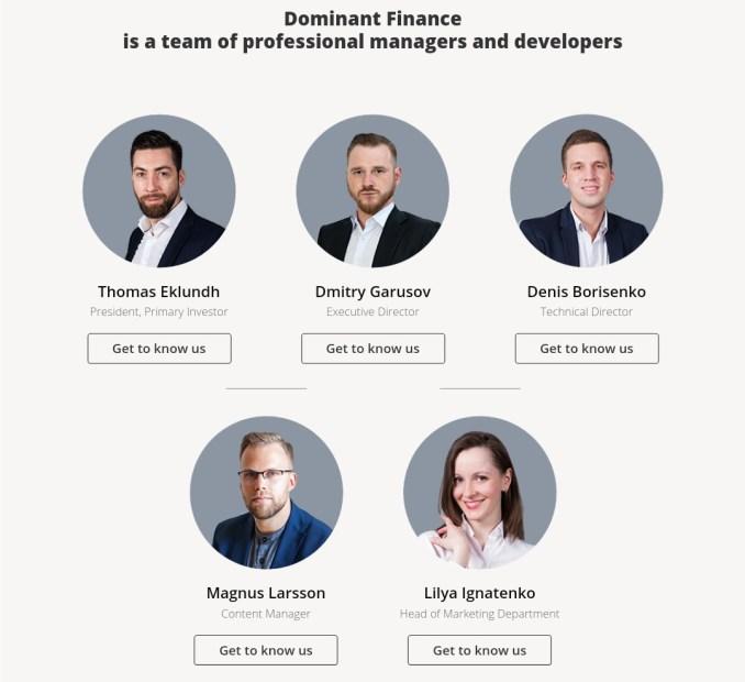 Dominant-finance.com - Fake Profiles