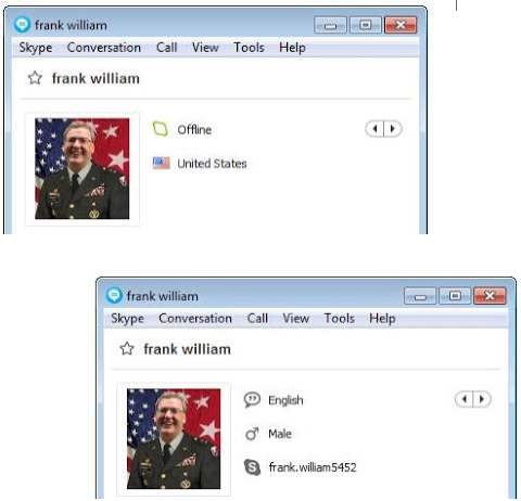 SCAMMERS on SKYPE: frank.william5452 (Frank William)