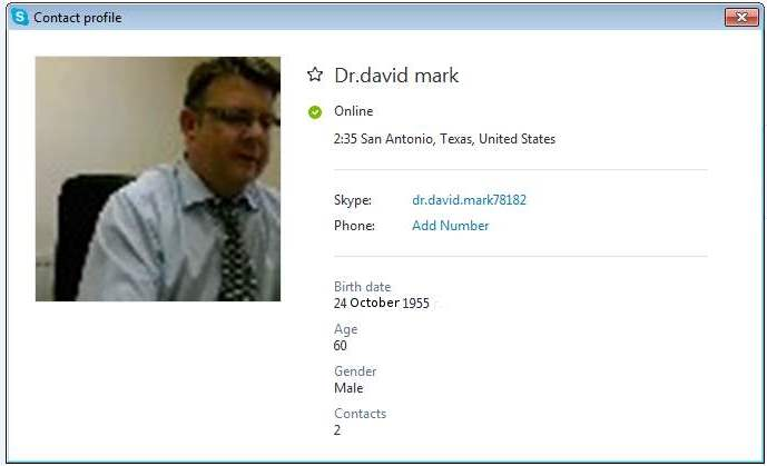SCAMPOLICE GROUP. SCAMMER MESSAGES DATABASE: RS/Loan Scam: Dr.David Mark (Ghana)