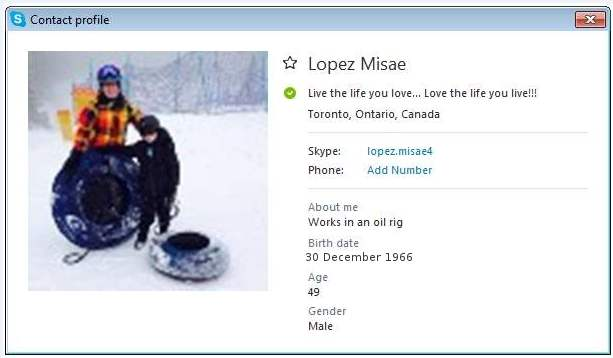 Romance Scam/Parcel Delivery Scam/Phishing: Lopez Misae (Nigeria)