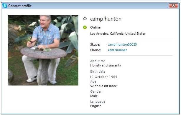 SCAMMERS on SKYPE:  camp.hunton50020 / Camp Hunton / Camp Hunton Oliver (Account N 1); live:campoliver100 / Camp Oliver (Account N 2)