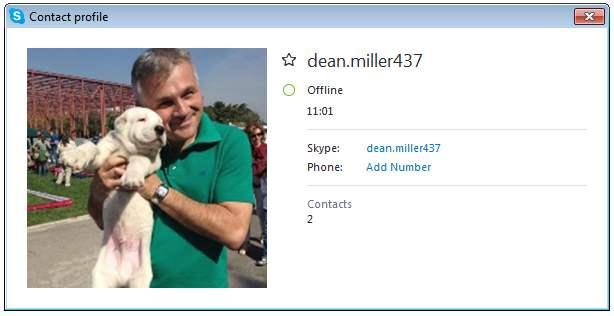 SCAMMERS on SKYPE: dean.miller437 (Dean Miller)