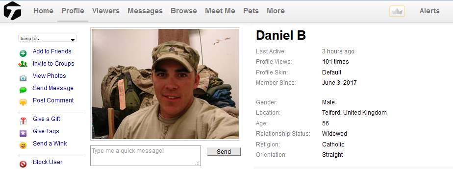 Congrats-your-busted-11: Romance Scam/Advance Fee Fraud/Phishing: DANIEL B.