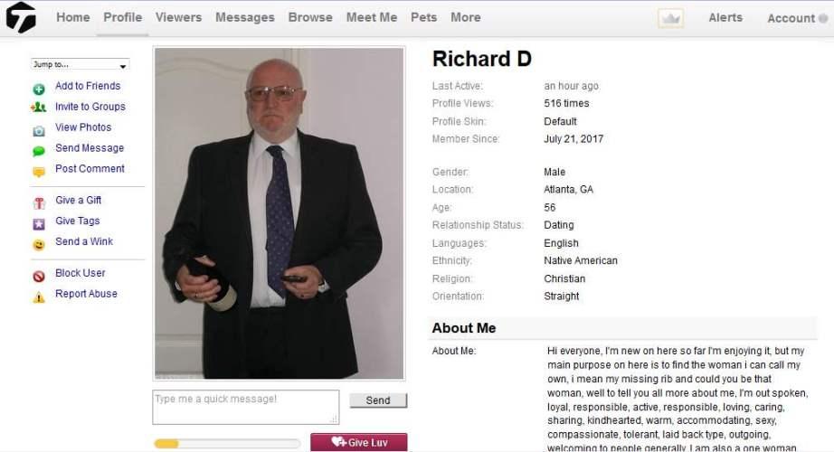 419 Scam/Romance Scam: RICHARDSON DAVID (RICHARD DAVID)