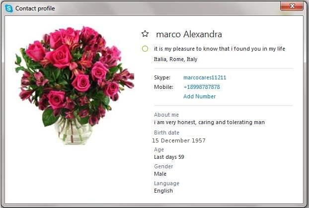 Romance Scam/Loan Scam/Fake Military: MARCO ALEXANDRA/MARCO ALEXANDRE (Ghana)