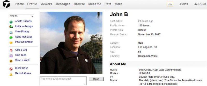 419 Scam/Romance Scam: JOHN BERG