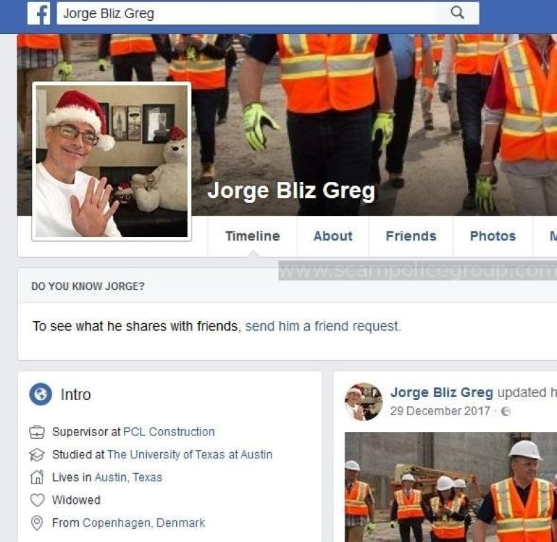 Used by scammer calling himself Jorge Bliz Greg or Jorge Greg.