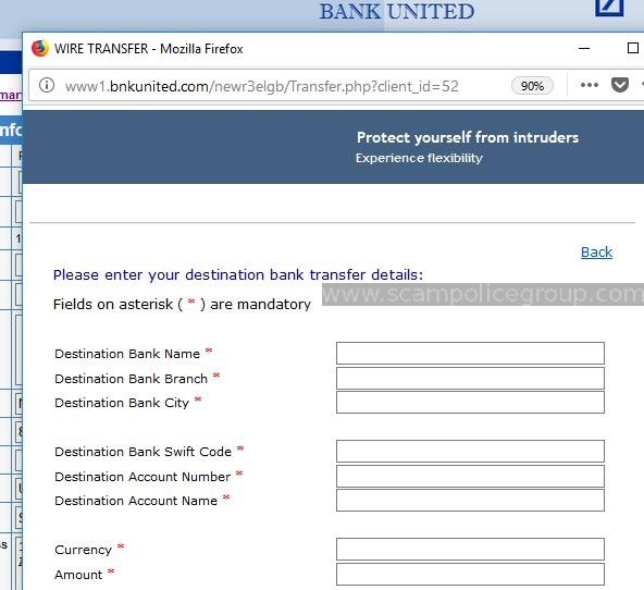 PHISHING SCREEN http://www1.bnkunited.com
