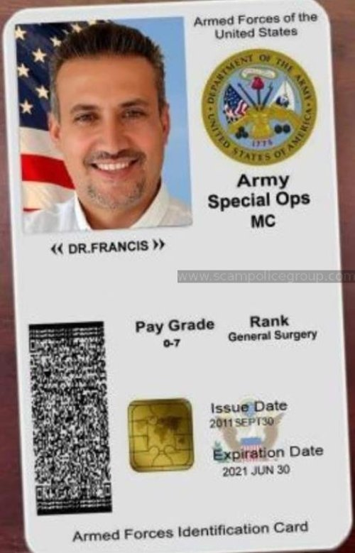 Military calling card scams