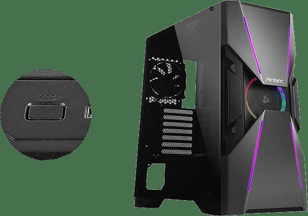 Antec DA601 PC Gaming Case with Customizable RGB Lighting