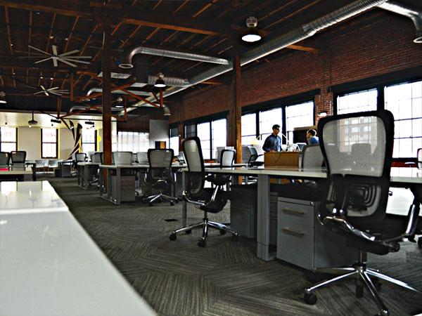 dark open office