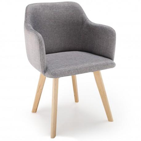 chaise scandinave design tissu gris