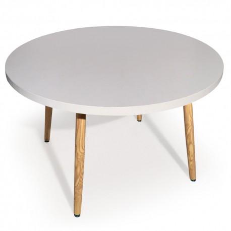 table ronde scandinave jones blanc