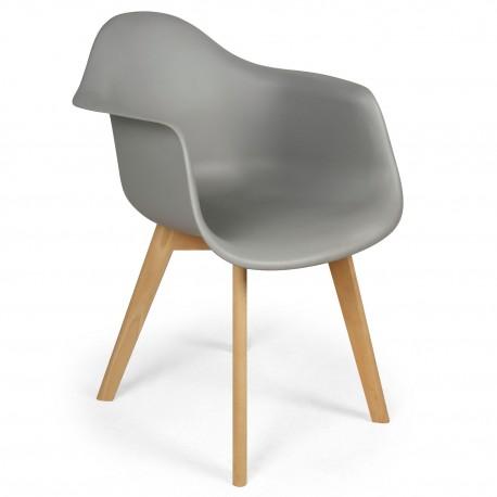 chaises scandinaves design daven gris lot de 4