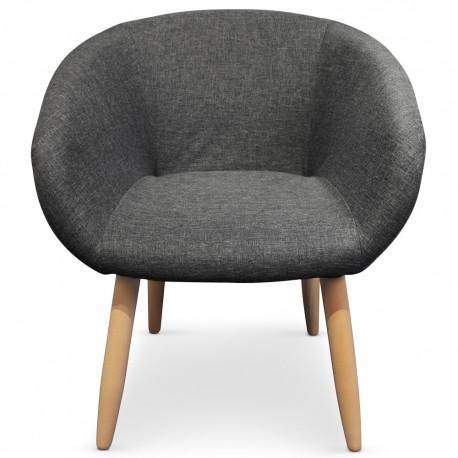 fauteuil scandinave barry gris fonce