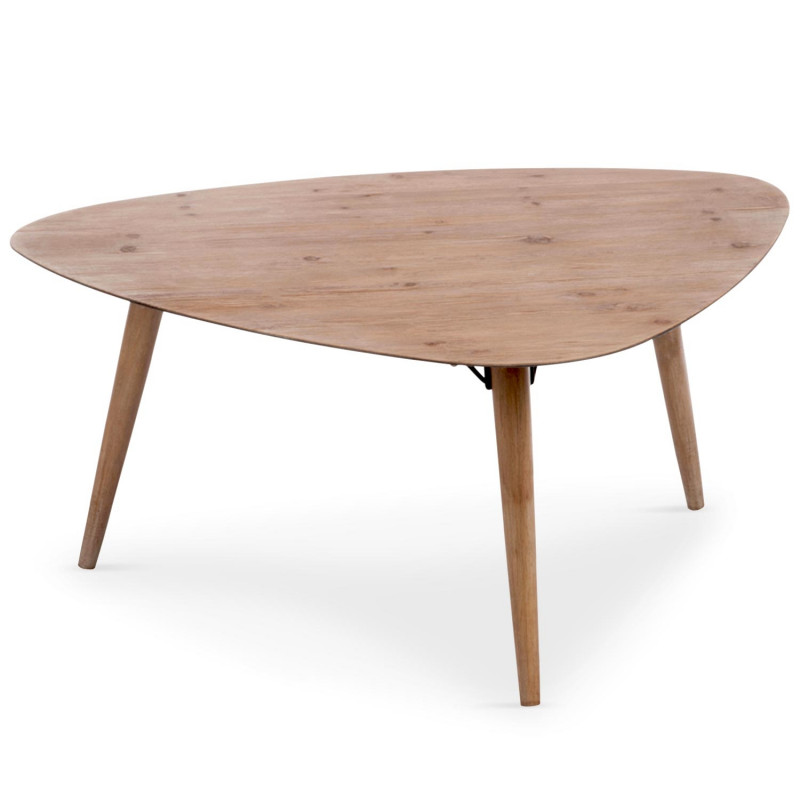 table basse scandinave triangulaire chene