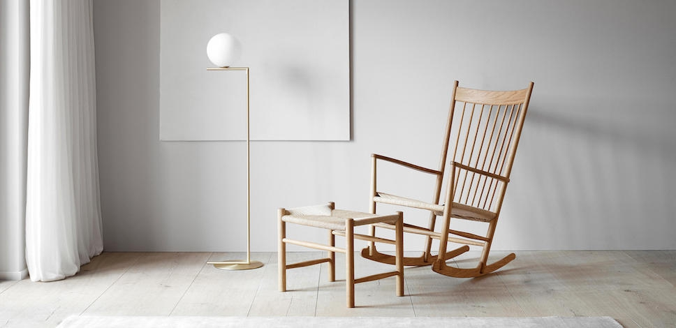 fredericia j16 rocking chair design