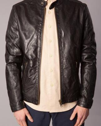 Human scales pete leather jacket