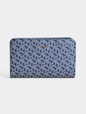 Tommy Hilfiger Monogram Logo Wallet Blue
