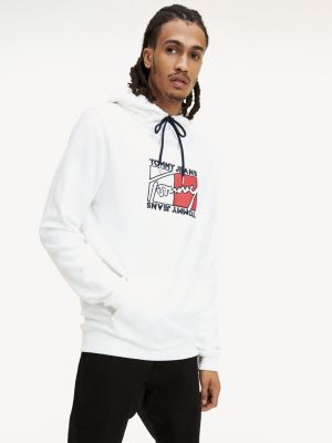 Tommy Jeans Logo Hoody White