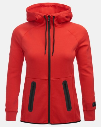 Peak Performance Tech Zip Hood Red